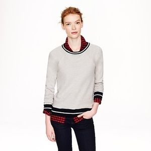 J. Crew Tipped Sweatshirt S Light Gray Crewneck